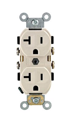 Leviton Electrical Receptacle 20 amps 5-20R 125 volts Light Almond