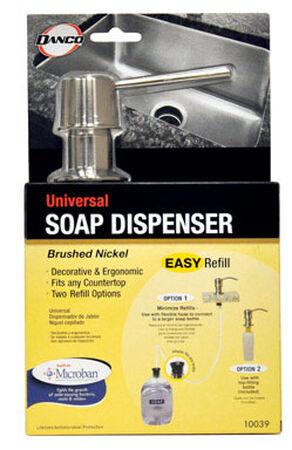 Danco 10.3 in. H Nickel Plastic Soap Dispenser Brushed Nickel