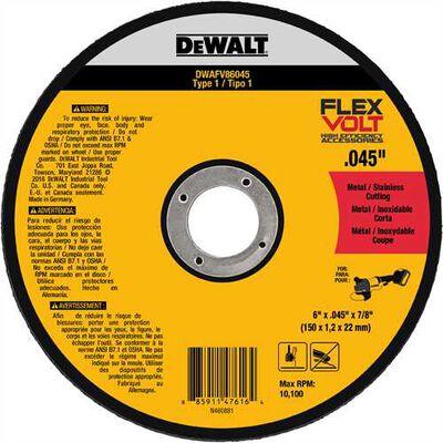"6"" x .045"" x 7/8"" T1 Flexvolt Cutting Wheel"
