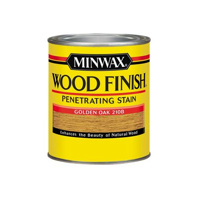 Minwax Wood Finish Transparent Oil-Based Wood Stain Golden Oak 1 qt.