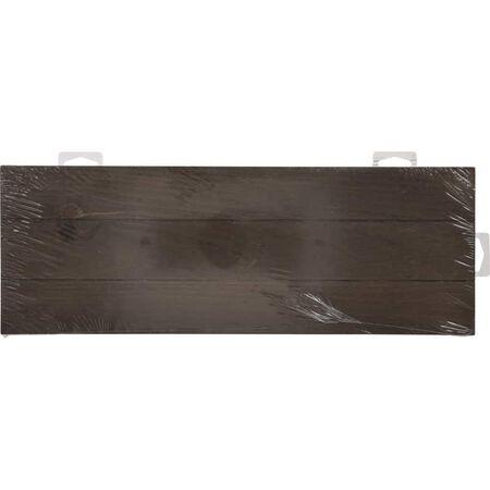 Hillman Brown Wood Rustic Address Plate