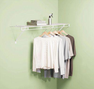 Rubbermaid 48 in. L x 48 in. H x 12 in. W Wardrobe Shelf Kit White