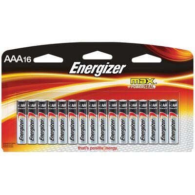 Energizer Max AAA Alkaline Batteries 1.5 volts 16 pk