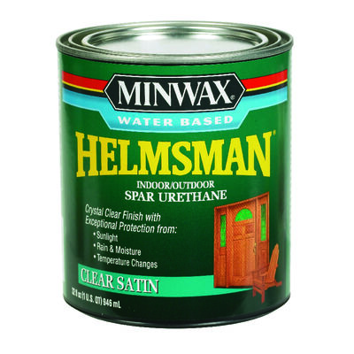 Minwax Indoor and Outdoor Clear Satin Water-Based Spar Urethane 1 qt.