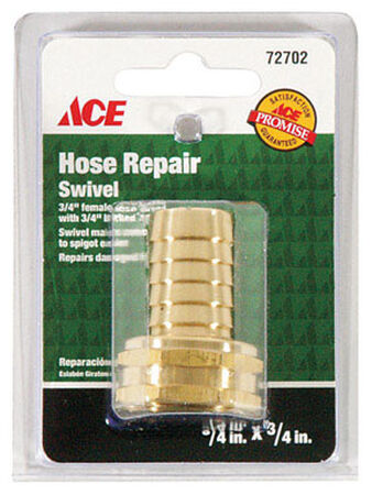 Ace 3/4 in. Hose Barb x 3/4 in. FHT Brass Hose Repair Female Threaded
