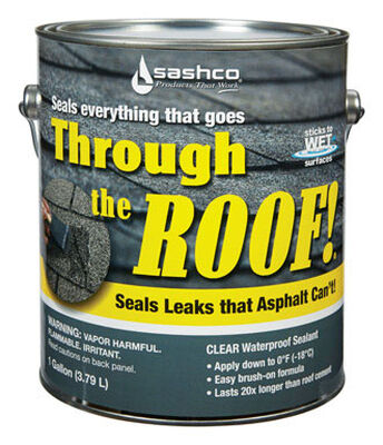 Sashco Through The Roof Elastomeric Roof Sealant 1 gal. Clear