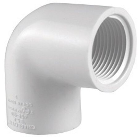 Charlotte Pipe Schedule 40 FPT To FPT 3/4 in. Dia. x 3/4 in. Dia. 90 deg. PVC Elbow