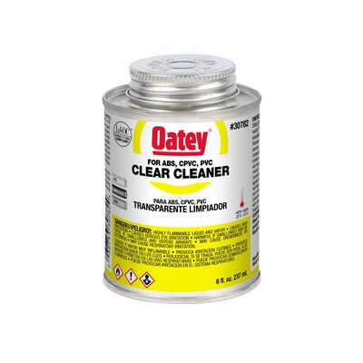Oatey Clear PVC/CPVC/ABS Cleaner 8 oz.