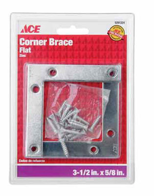 Ace Flat Corner Brace 3-1/2 in. x 5/8 in. Zinc