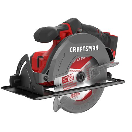 Craftsman 20V MAX 6-1/2 in. Cordless Circular Saw 4000 rpm Keyless 50 deg. Red (Bare Tool)