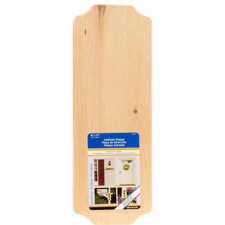 Hillman Natural Wood Rectangle Address Plate