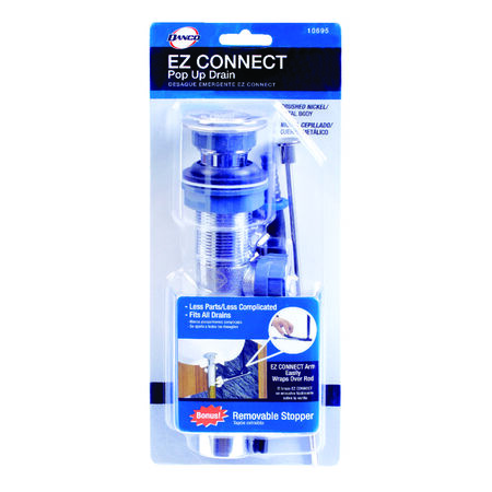 Danco EZ Connect 1-1/4 in. Dia. Brass Pop Up Lavatory Drain