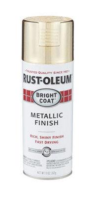 Rust-Oleum Stops Rust Gold High Gloss Bright Coat Metallic Spray 11 oz.