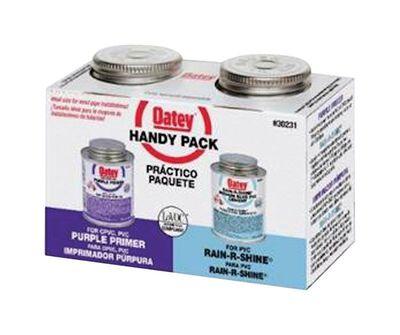 Oatey Handy Pack Purple/Blue PVC Primer and Cement 2 pk