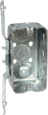 Raco 4 in. H Rectangle 1 Gang Junction Box 1/2 in. Gray Steel
