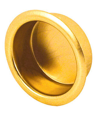 Prime-Line 0.8 in. L Brass Plated Door Pull