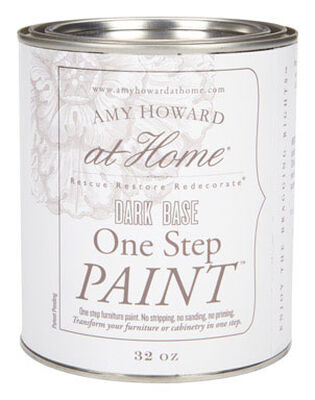 Amy Howard at Home Interior Latex One Step Furniture Paint Flat Chalk Finish 32 oz. Dark Base