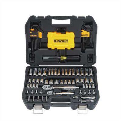 108 Piece 1/4 in & 3/8 in Drive Mechanics Tools Set
