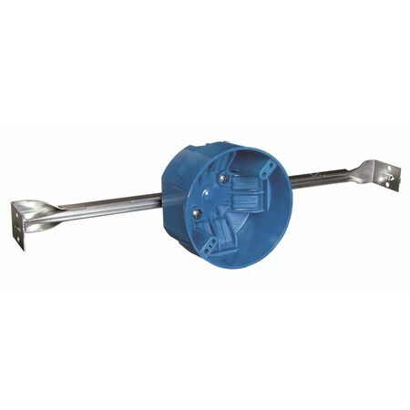 Carlon 2-11/16 in. H Round Electrical Box Blue PVC
