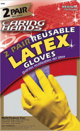 Soft Scrub Latex Gloves Small 4 pc. Yellow