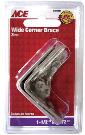 Ace Inside Wide Corner Brace 1-1/2 in. x 1-1/2 in. Zinc