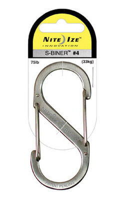 Nite Ize S-Biner Stainless Steel Stainless Steel Carabiner Key Holder Silver 3-1/2 in. L 75 l