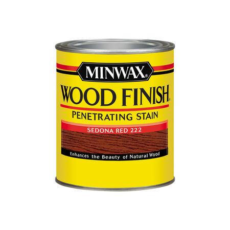 Minwax Wood Finish Semi-Transparent Sedona Red Oil-Based Oil Wood Stain 1 qt.