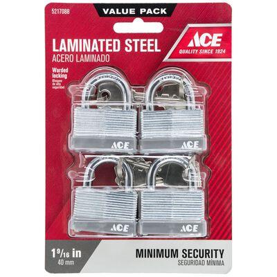 Ace 1-1/2 in. Warded Locking Padlock