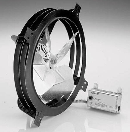 Air Vent Gable Mount Power Fan 18 in. x 17.75 in. x 7.25 in. 7.25 in. 14 in. 1900 sq. ft. 1 320 cfm