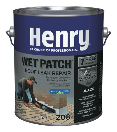 Henry Wet patch Plastic Roof Cement 0.9 gal. Black