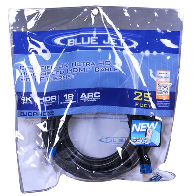 Blue Jet 25 ft. L High Speed HDMI Cable with Ethernet