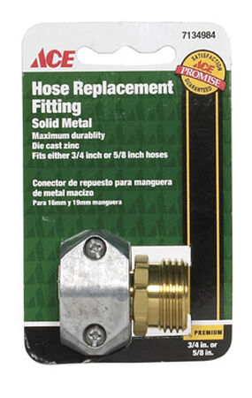 Ace 5/8 or 3/4 in. Zinc Hose Mender Clamp Male Threaded