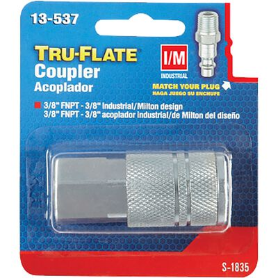 Tru-Flate Steel Quick Change Coupler 3/8 in. FNPT Female I/M