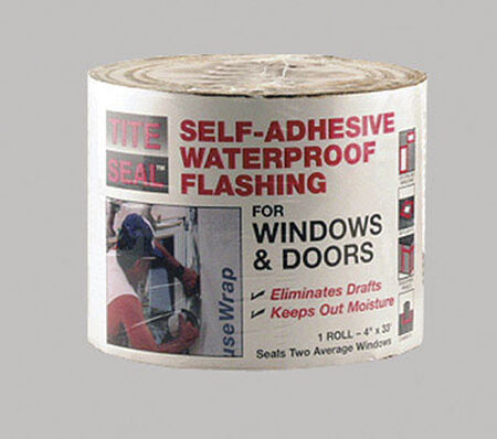 Tite Seal Rubber Self-Adhesive Waterproof Flashing 33 ft. L x 4 in. W