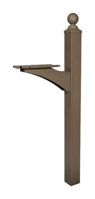 Solar Group Gibraltar 56-1/2 in. H x 6 in. W x 21-1/2 in. L Textured Aluminum/Steel Bronze Mailb