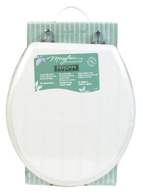 Mayfair Wood Toilet Seat Round White