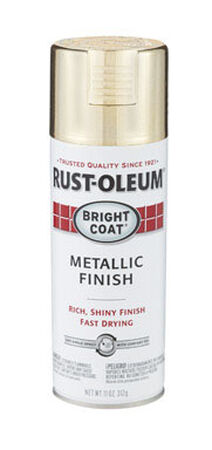 Rust-Oleum Stops Rust Gold High Gloss Bright Coat Metallic Spray 11 oz.