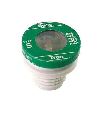 Bussmann Tamper Proof Plug Fuse 30 amps 125 volts 3 pk For Small Motor And Inductive Load Circuits