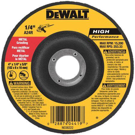 "4"" x 1/4"" x 5/8"" Metal Grinding Wheel"