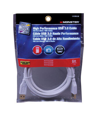 Monster 6 ft. L White USB Cable