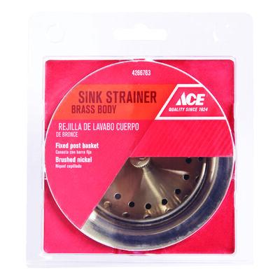 Ace Basket Strainer Assembly Brushed Nickel