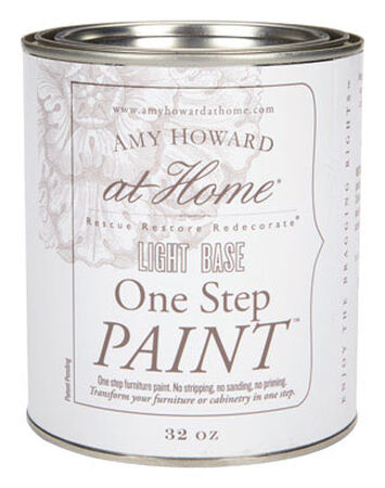 Amy Howard at Home Interior Latex One Step Furniture Paint Flat Chalk Finish 32 oz. Light Base