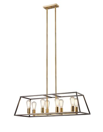 8 Light 14 inch Rubbed Oil Bronze Pendant Chandelier Light