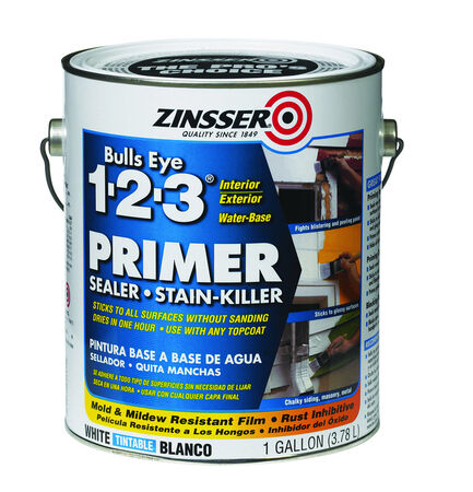 Zinsser Bulls Eye 123 White Water-Based Styrenated Acrylic Primer and Sealer 1 gal.