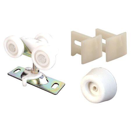 Prime-Line Hardware Kit White/Brown 1 pk