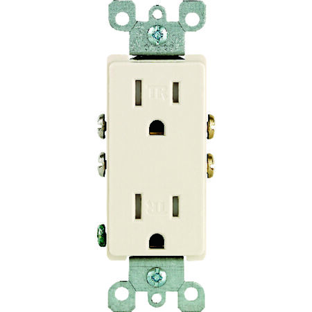 Leviton Decora Electrical Receptacle 15 amps 5-15R 125 volts Light Almond