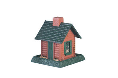 North States Log Cabin Wild Bird 5 lb. Plastic Hopper Seed Feeder