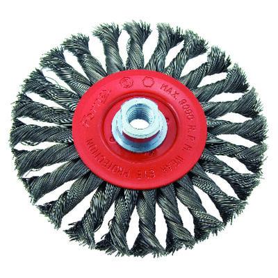 Forney 6 in. Dia. Coarse Twist Knot 5/8 in. -11 in. Wire Wheel Brush 9000 rpm