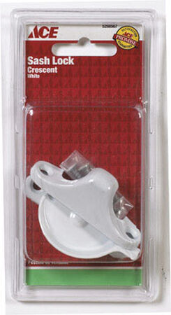 Ace White Chrome Sash Lock White 1