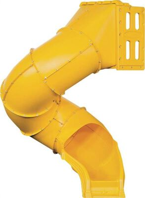 Spiral Tube Slide, For Use With PlayStar Build It Yourself Kits, HDPE, Yellow
